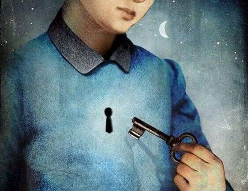 clé et serrure sur le coeur