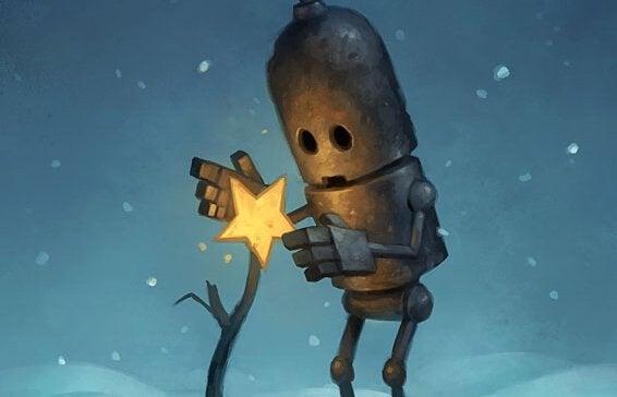 petit robot et fleur étoile