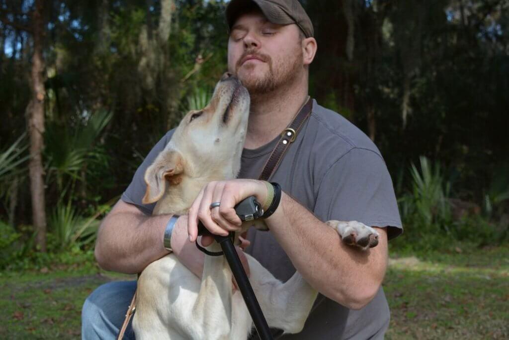 Benjamin Stepp et son chien Arleigh