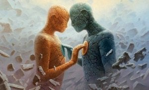 Mille chemins, un seul but - Victor Hugo Personnages-de-pierre-se-touchant-la-poitrine-300x182