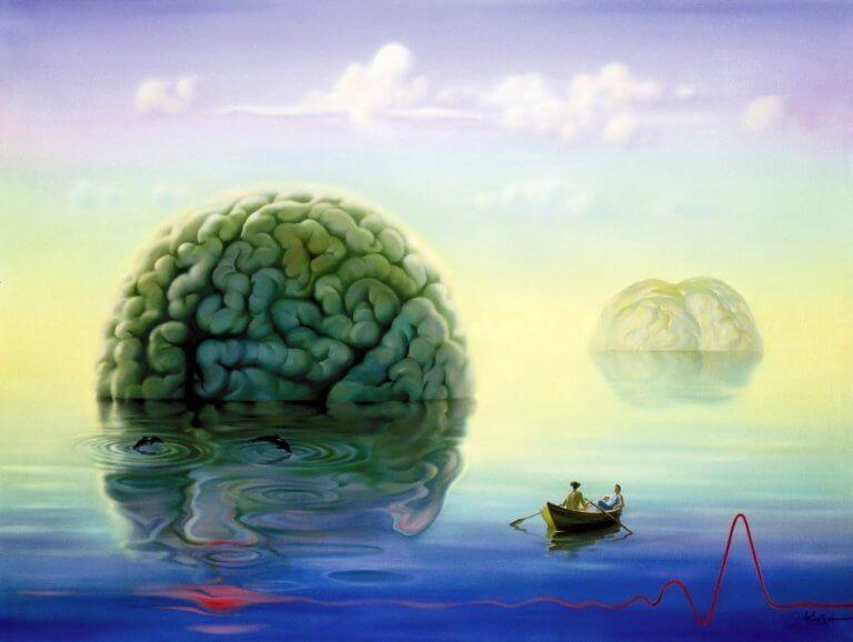 cerveau géant au milieu de la mer