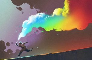 fumée colorée