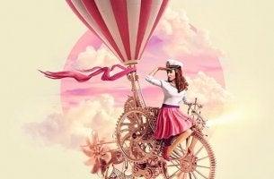 fille sur bicyclette