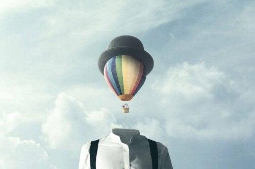montgolfiere qui fuit la routine
