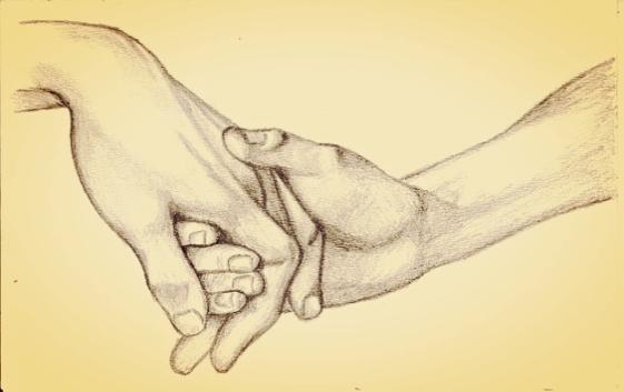 mains jointes