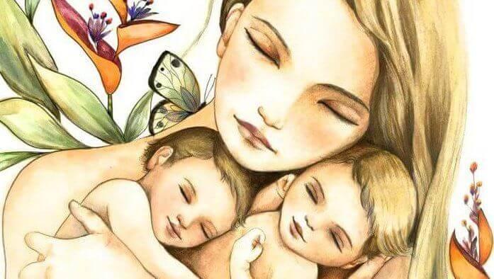 mère et ses enfants