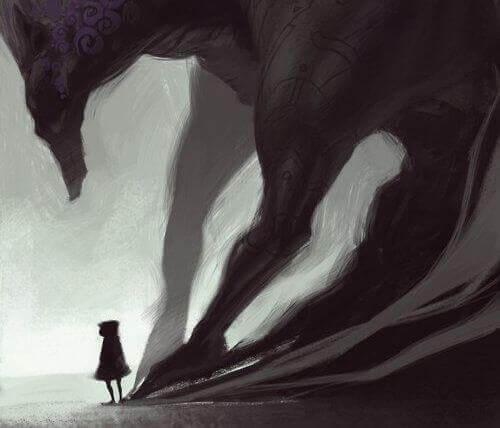 ombre en forme de loup