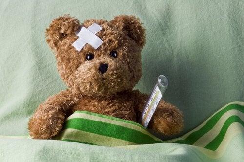 ours en peluche hypocondriaque