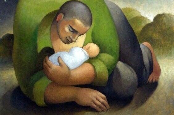 père avec son enfant
