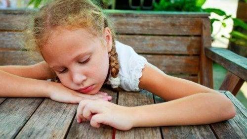 dépression infantile chez une petite fille