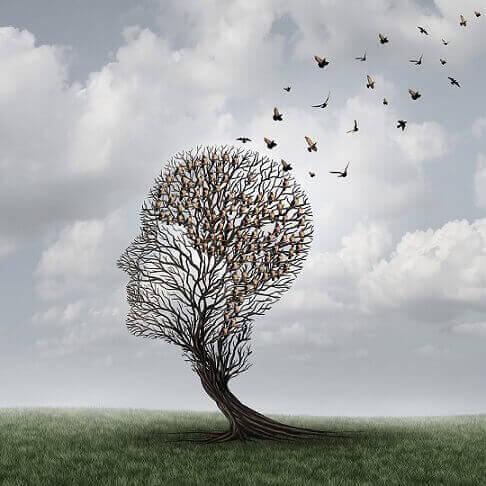 amnésie antérograde symbolisée par les oiseaux qui s'envolent