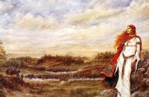 femme celte rousse