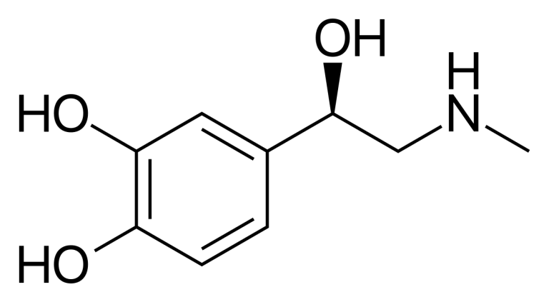 formule chimique adrénaline