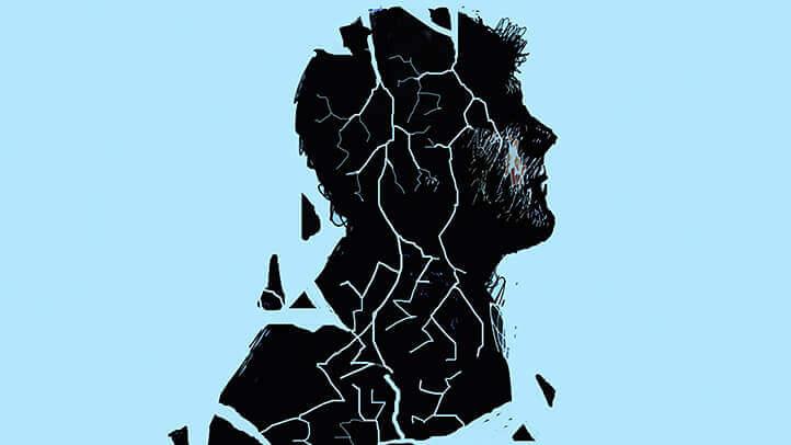 homme fragmenté par la dépression