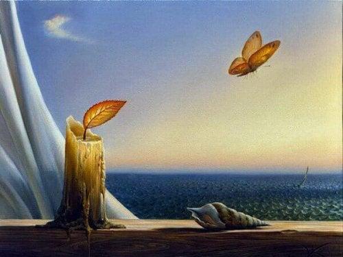papillon qui veut repartir de zéro