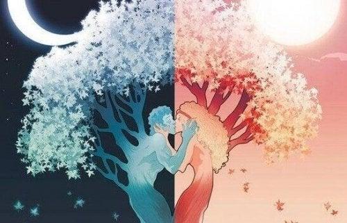 arbre formé par un couple