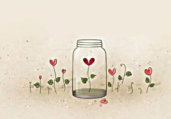 fleurs en forme de coeur