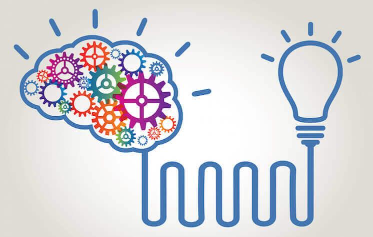 cerveau connecté à une ampoule