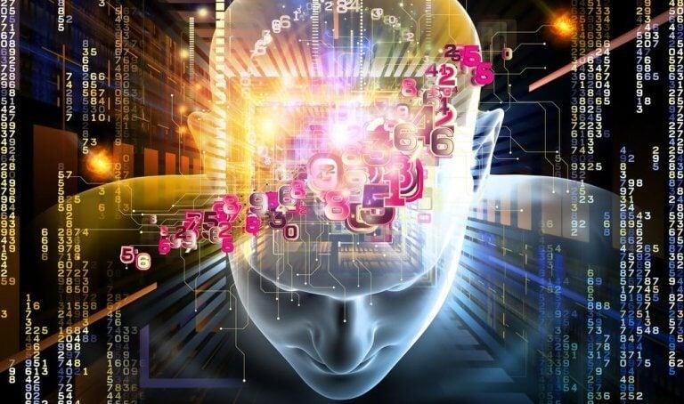 cerveau duquel sortent des chiffres