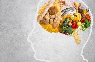 cerveau en forme d'aliments
