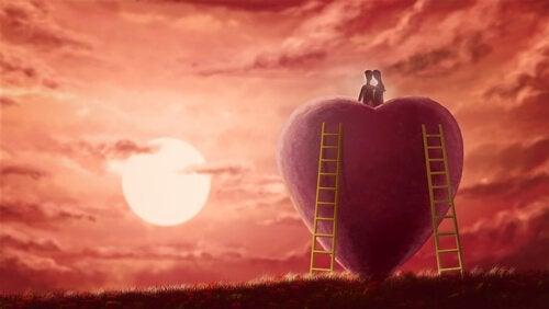 couple sur un coeur