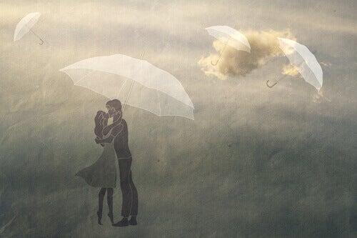 couple dans le ciel