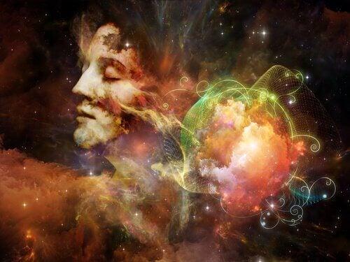 femme avec les yeux fermés entourée de la constellation des emotions