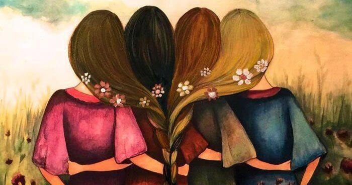femmes liées par une tresse
