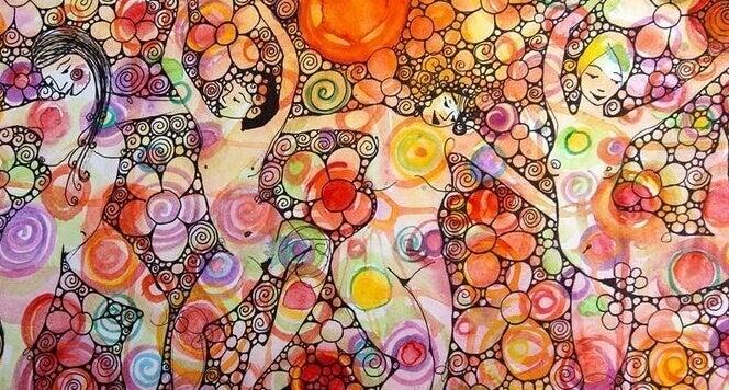 fresque de femmes