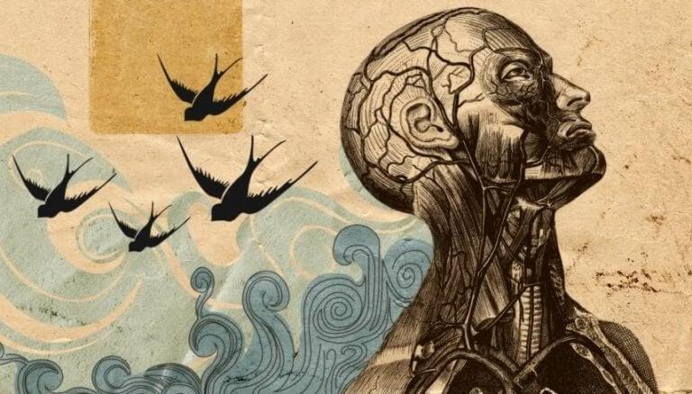 figure humaine et oiseaux