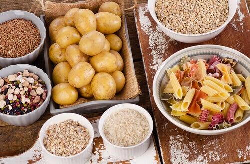 pommes de terre riz pâtes
