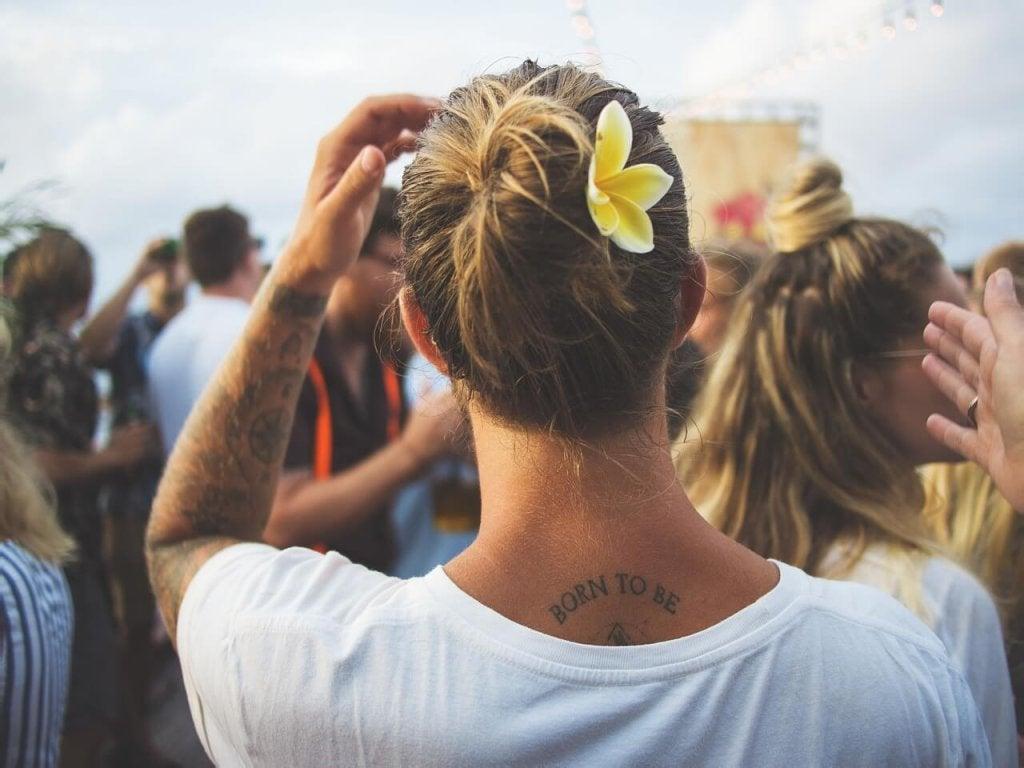 femme tatouée