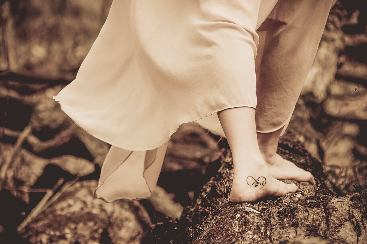 pied tatoué