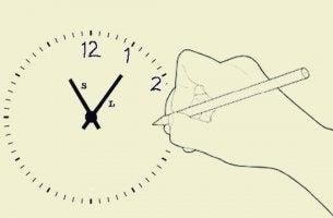 test du dessin de l'horloge