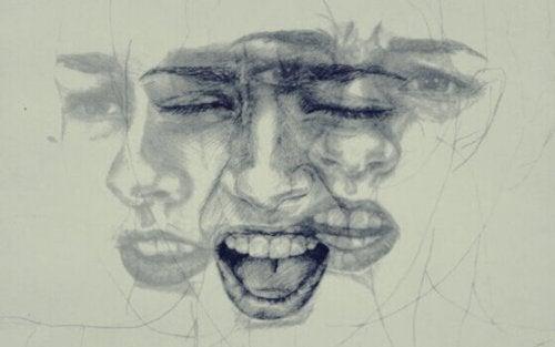 visage exprimant des émotions