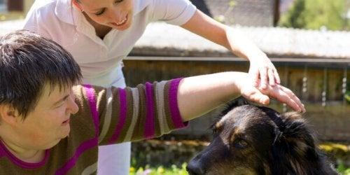 thérapie avec chien