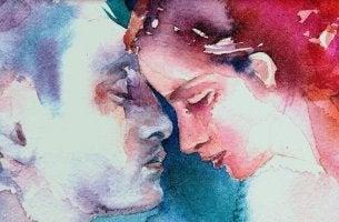couple bleu et rose