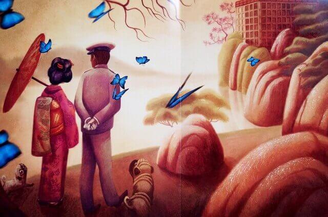 couple et papillons