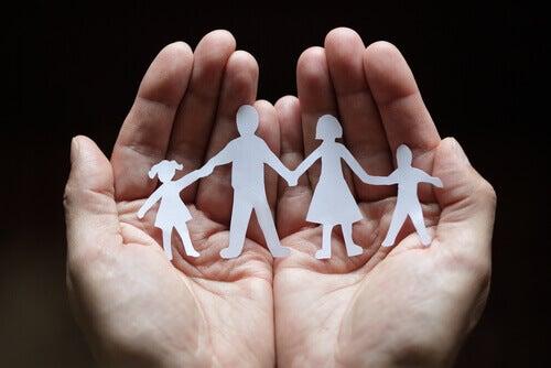 famille en papier