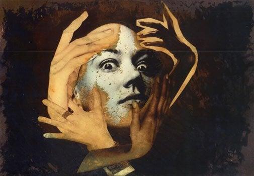 peinture avec visage et mains
