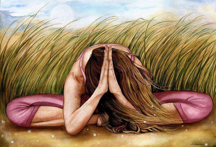 femme qui médite