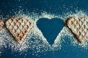 galettes en forme de coeur