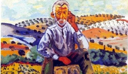 homme à la campagne