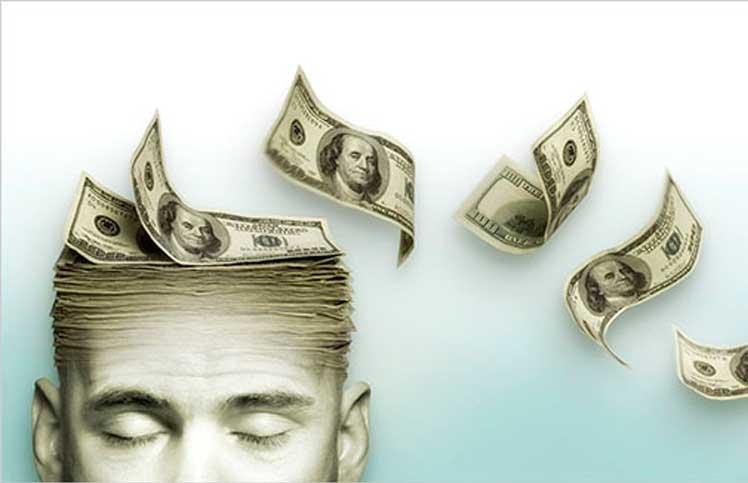 homme pensant à l'argent