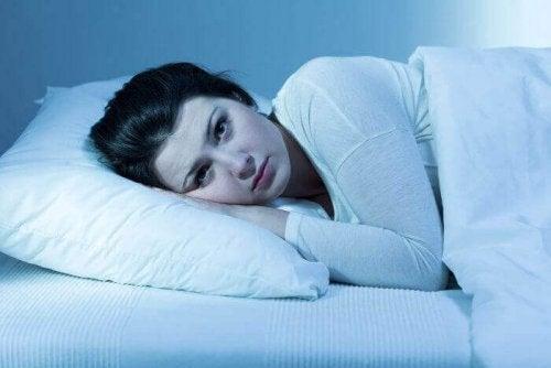 insomnie d'une femme