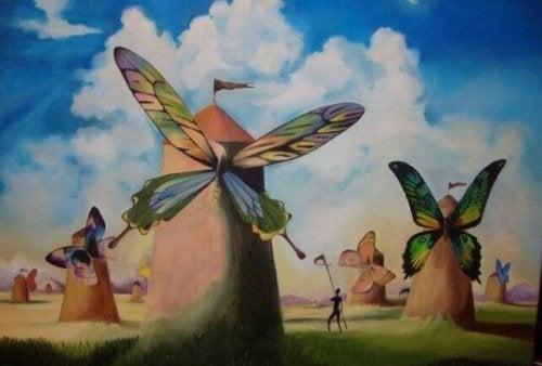 moulins avec des ailes