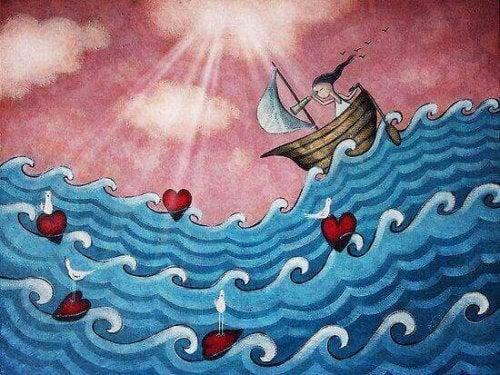 petite fille en bateau