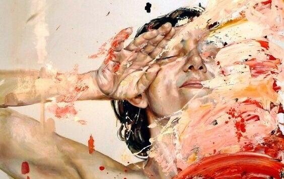 portrait peint de femme