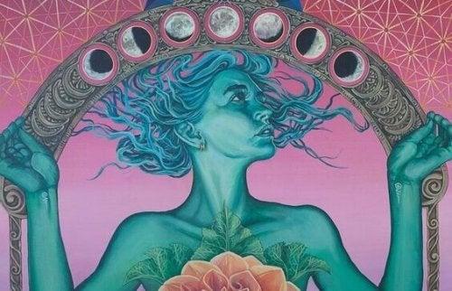femme et lune