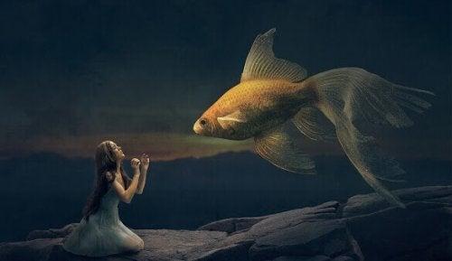 femme et poisson